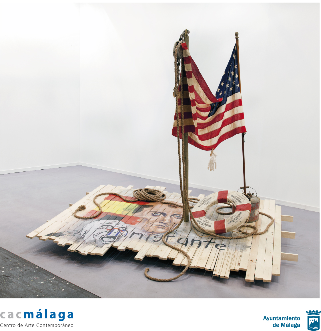 "click image to learn more about CAC Málaga's exhibition Travis Somerville ""Homeland No Security"""